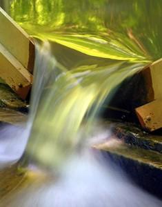 SERC weir measures water flowing in a stream.